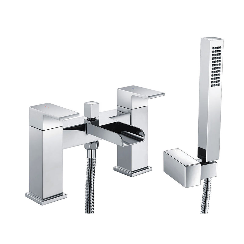 Granlusso Riviera Open Spout Bath Shower Mixer With Handset Kit Chrome