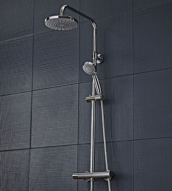 Riviera Thermostatic Dual Function Bar Valve Shower System