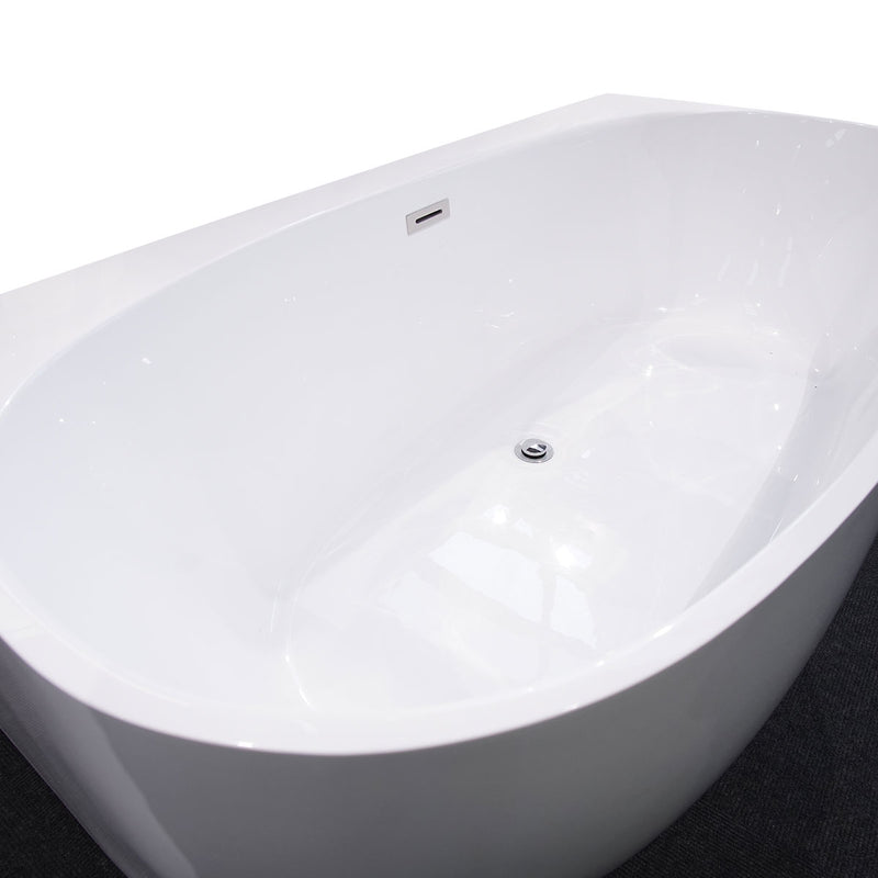Granlusso Venice Back To Wall Freestanding Acrylic Bath