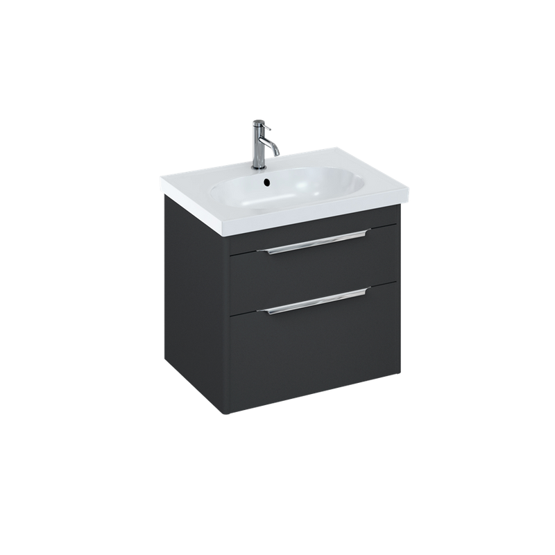 Shoreditch Double Drawer Wall Hung Vanity Unit With Basin