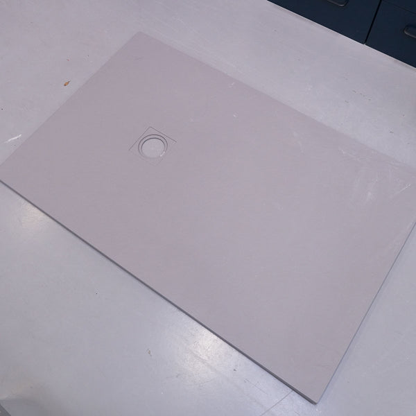 SolidSoft 900 x 1400mm Grey Soft Flexible Shower Tray With Full Installation Kit - Ex-Display