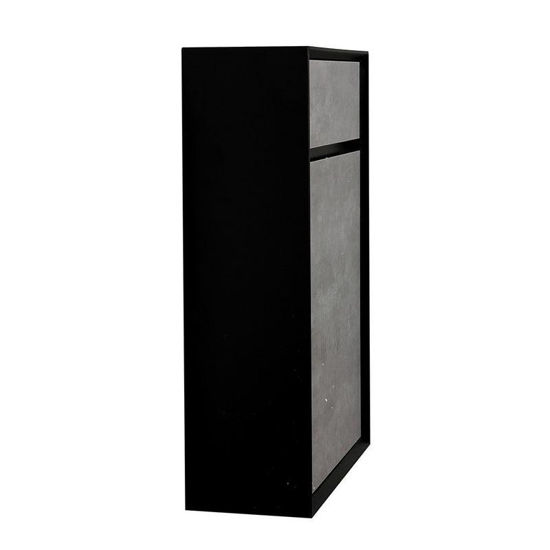 Soxy 500mm Black & Concrete Back To Wall Toilet Unit