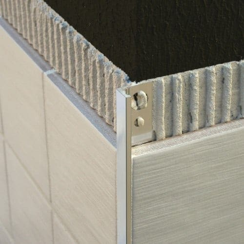 Square edge tile trim