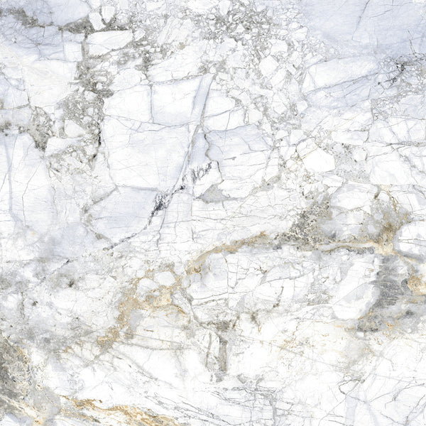 Supreme 4D Shaped Matt White Marble Tile 100 x 100cm
