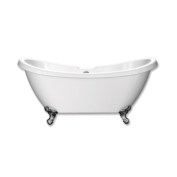 Hampton Traditional Double Ended Slipper Freestanding Acrylic Bath