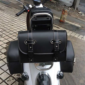 For Harley Sportster XL883 XL1200 Universal Motorcycle Saddlebag Model Side PU Leather Luggage Saddle bag Storage Tool Pouch