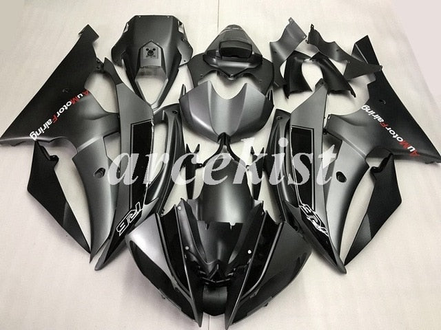 New ABS Injection Mold Motorcycle Fairings Kit Fairing set Fit For Yamaha YZF 600 R6 06 07 YZF-R6 2006 2007 Matte Gray