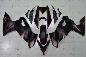 ER6F 2011 Bodywork NINJA 650R 2009 - 2011 Matter Black Red Line Motorcycle Fairing EX 650 2009 Full Body Kits