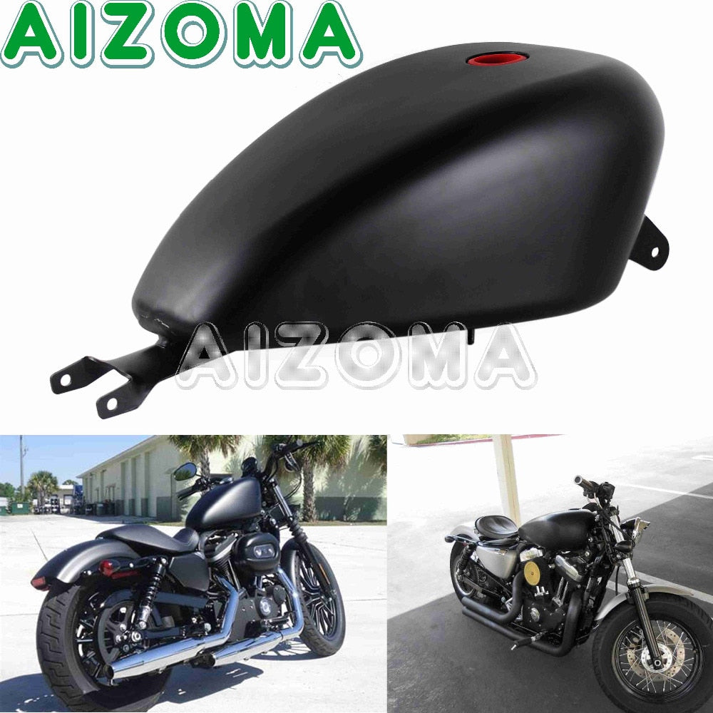 Motorcycle Oil Fuel Tank 3.3 Gal Gas Tank for Harley XL 883 1200 Sportster Forty-eight SuperLow Custom Seventy-two 2007-2018