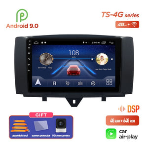 Android 9.0 system Car DVD Multimedia player for Mercedes/Benz Smart Fortwo 2011 2012 2013 2014 2015 WiFi BT Radio stereo  GPS
