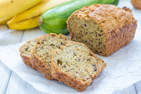 Vegan, gluten-free, low-sugar zucchini banana bread