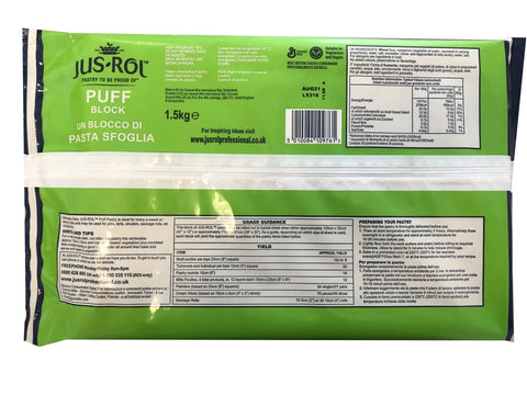 Catering Sized Jus Rol Puff Pastry 1.5kg (€0.33/100g)