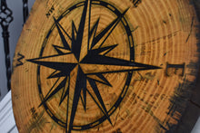 Load image into Gallery viewer, Tree Cookie Compass Rose - Extra Detail