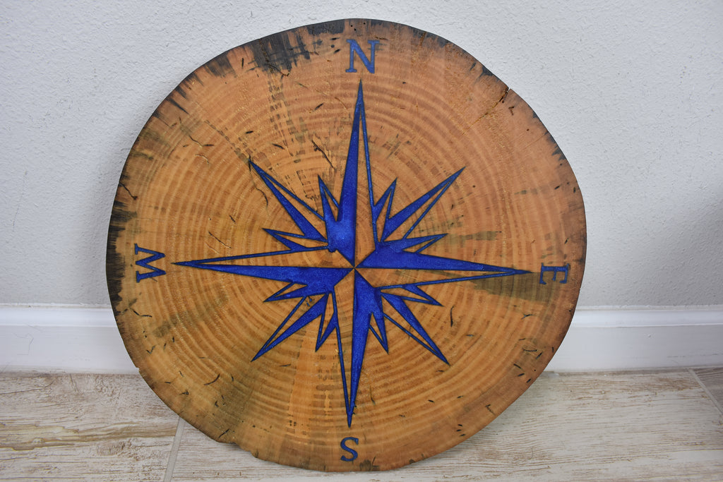 Tree Cookie Compass Rose
