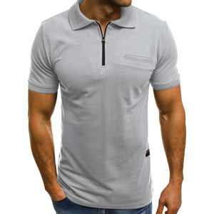 Zip Neck Polo Shirt