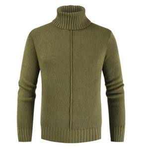 Solid Color Roll Neck Sweater
