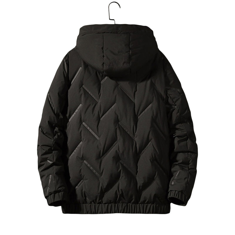 Solid Hooded Coat