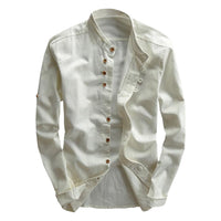 Fabiano Long Sleeve Linen Blend Shirt