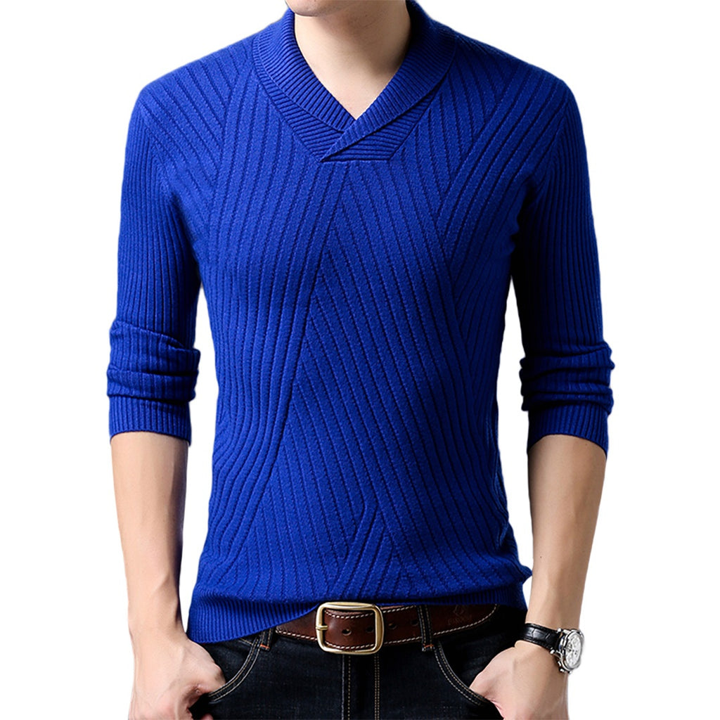 V-Neck Slim Sweatshirt