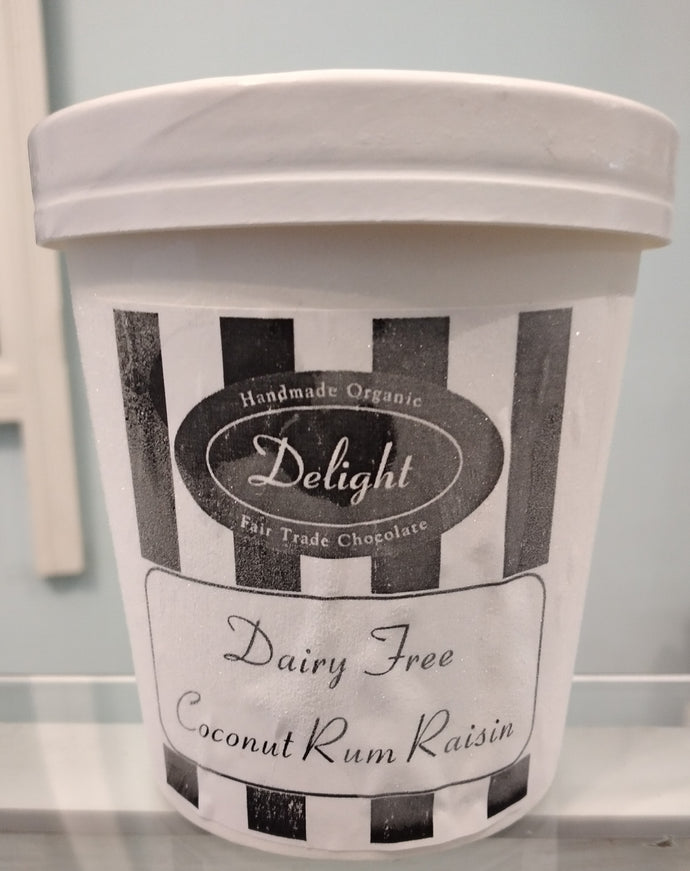 Dairy Free Coconut Rum Raisin Ice Cream