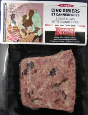 Terrine 5 Game and cranberries