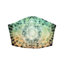Load image into Gallery viewer, 64 Tetrahedron Grid by Vajra: Art Print Face Mask- Adult