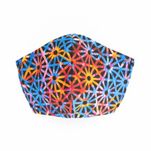 Load image into Gallery viewer, Geometric Jelly art print fabric mask, front view.