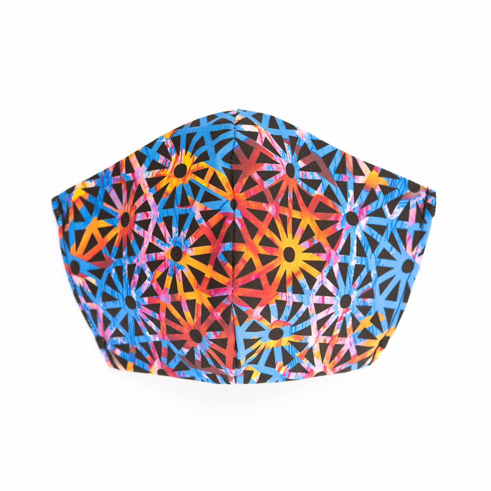Geometric Jelly by Erin Banwell: Art Print Face Mask- Child