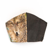 Load image into Gallery viewer, Wolf by Gabriel Welch: Art Print Face Mask- Child
