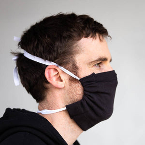 Economy Cotton Masks-Black 10 Pack
