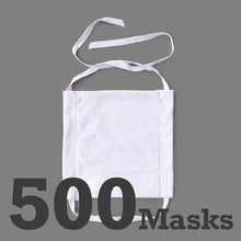 Load image into Gallery viewer, Economy Cotton Masks-White 500 Pack