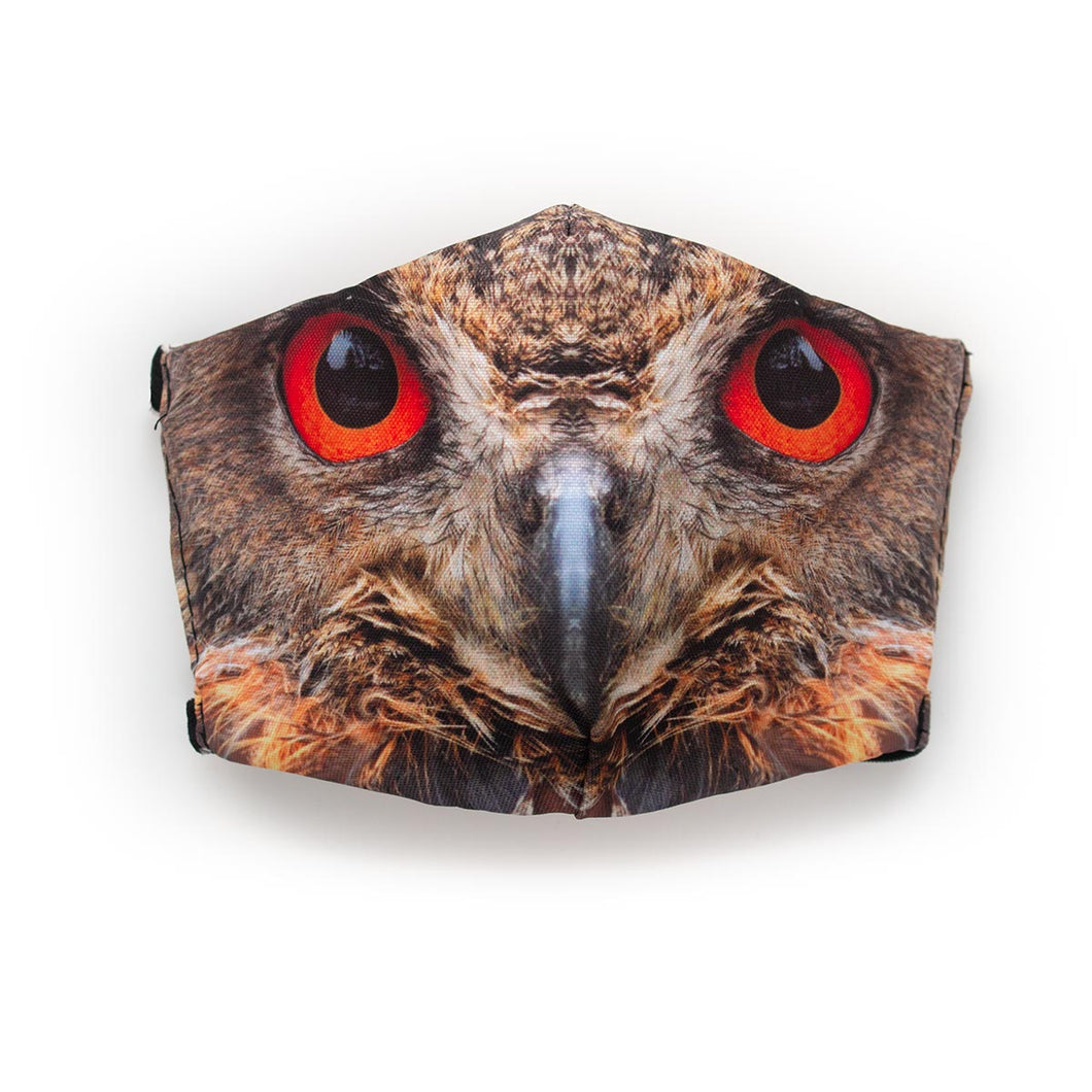 Owl Eyes: Art Print Face Mask- Child