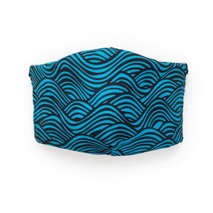Waves: Art Print Face Mask- Adult
