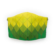 Load image into Gallery viewer, Diamond Tiles - Green and Yellow: Art Print Face Mask- Adult