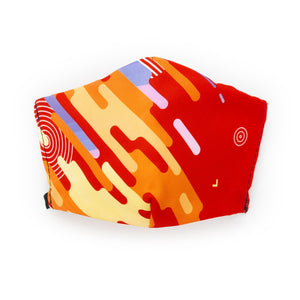 My Mind in Orange: Art Print Face Mask- Child