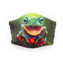 Load image into Gallery viewer, Tree Frog: Art Print Face Mask- Child