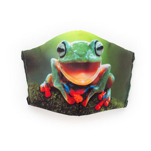 Tree Frog: Art Print Face Mask- Child