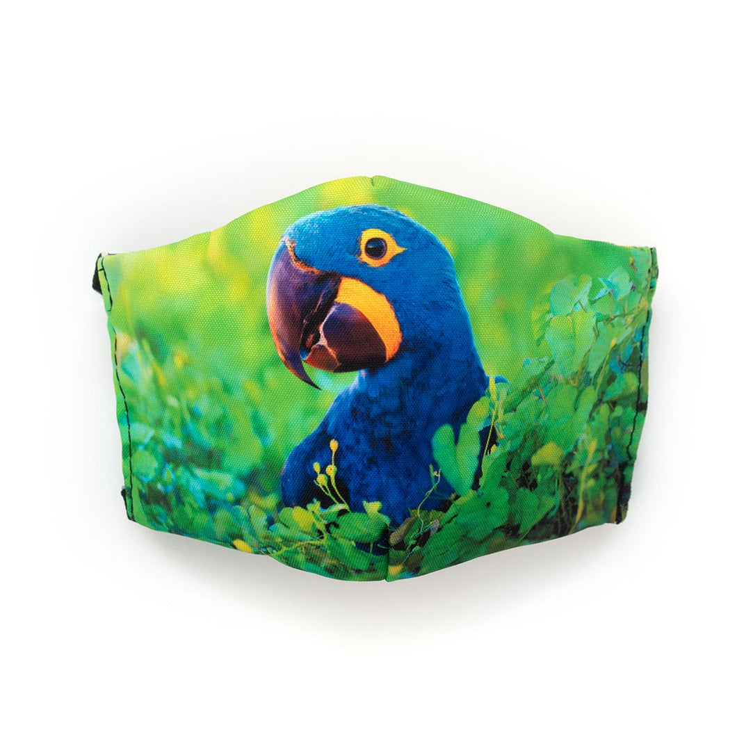 Hyacinth Macaw: Art Print Face Mask- Child