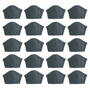 Grey 20 pack, Hand-Made Fabric Masks