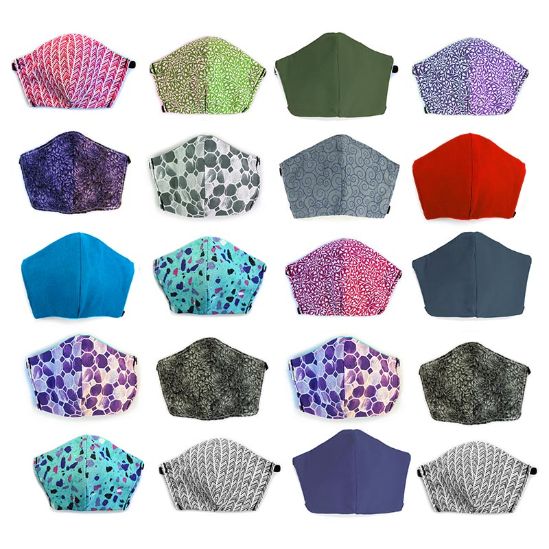 Assorted 20 pack, Hand-Made Fabric Masks