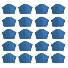 Load image into Gallery viewer, Blue 20 pack, Hand-Made Fabric Masks