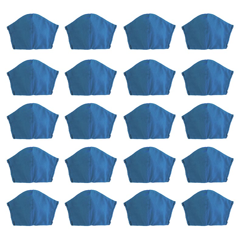 Blue 20 pack, Hand-Made Fabric Masks