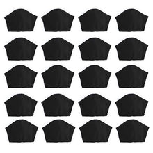 Load image into Gallery viewer, Black 20 pack, Hand-Made Fabric Masks