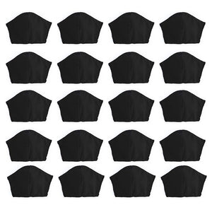 Black 20 pack, Hand-Made Fabric Masks