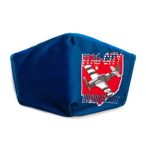 Flag City Honor Flight Face Mask Blue- Adult