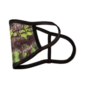 Forest Green: Printed Basic Ear Loop Mask