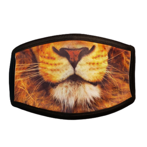 Lion: Printed Basic Ear Loop Mask