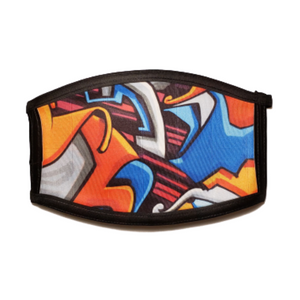 Graffiti: Printed Basic Ear Loop Mask