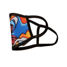 Load image into Gallery viewer, Graffiti: Printed Basic Ear Loop Mask