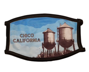 Water Towers- Chico, California: Printed Basic Ear Loop Mask